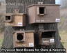 New range of 18mm Plywood Nest Boxes for Barn Owl, Tawny Owl, Little Owl & Kestrels